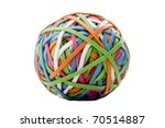 rubber rings of different... | Shutterstock . vector #70514887