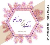 wedding invitation card... | Shutterstock .eps vector #705150151