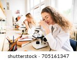 beautiful high school students... | Shutterstock . vector #705161347
