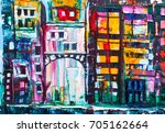 Painting Of Cityscape.abstract...