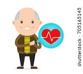 Old Man Having Heart Attack...