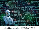 3d rendering robot learning or... | Shutterstock . vector #705165757