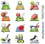 vector sport icon set | Shutterstock .eps vector #70517110