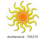 yellow sun | Shutterstock . vector #705173