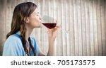 digital composite of woman... | Shutterstock . vector #705173575