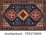 persian carpet  tribal vector... | Shutterstock .eps vector #705174004
