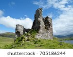 Ardvreck Castle With Blue Sky