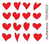 hearts vector set | Shutterstock .eps vector #705190219
