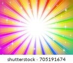rainbow background | Shutterstock . vector #705191674