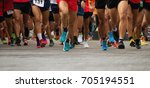 marathon running race  people... | Shutterstock . vector #705194551