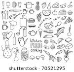 food and cooking icons vector...