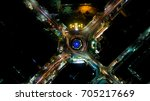 night circle | Shutterstock . vector #705217669
