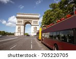 view on the triumphal arch and...   Shutterstock . vector #705220705
