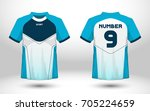 blue and white layout football... | Shutterstock .eps vector #705224659