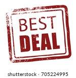 best deal rubber stamp   Shutterstock .eps vector #705224995