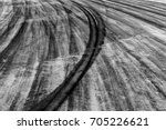 Black Tire Track Background...
