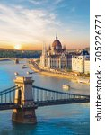 beautiful view of the hungarian ... | Shutterstock . vector #705226771