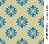 new color seamless pattern with ... | Shutterstock .eps vector #705231151