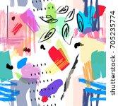 abstract seamless pattern. ... | Shutterstock .eps vector #705235774