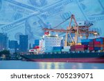 logistics industry and... | Shutterstock . vector #705239071