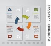 modern 4 steps process. simple... | Shutterstock .eps vector #705247219
