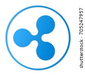 ripple vector sign icon.... | Shutterstock .eps vector #705247957