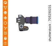 digital slr camera | Shutterstock .eps vector #705250231