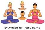 vector illustration of woman... | Shutterstock .eps vector #705250741