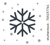 snow star icon  | Shutterstock .eps vector #705257761