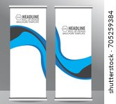 roll up business brochure flyer ... | Shutterstock .eps vector #705259384