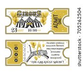 circus ticket.back and front... | Shutterstock .eps vector #705262504