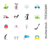 golf icons. set of sport icons  ...   Shutterstock .eps vector #705262684