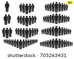 people icon set in trendy flat... | Shutterstock .eps vector #705263431