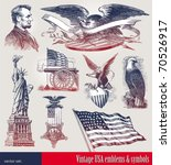 vector set of american... | Shutterstock .eps vector #70526917