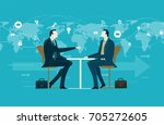 two businessmen on the meeting  ... | Shutterstock .eps vector #705272605