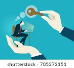 human hands holding the... | Shutterstock .eps vector #705273151