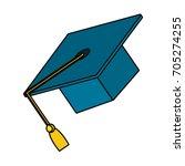 student graduation hat | Shutterstock .eps vector #705274255
