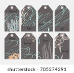 hand drawn creative tags.... | Shutterstock .eps vector #705274291