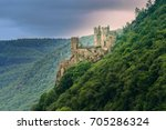 the rheinstein castle  built in ... | Shutterstock . vector #705286324