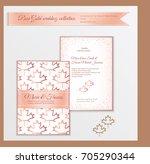 luxury wedding invitation... | Shutterstock .eps vector #705290344