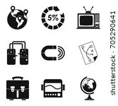 fiscal icons set. simple set of ... | Shutterstock .eps vector #705290641