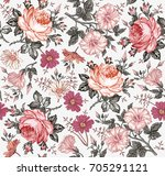 seamless pattern. beautiful... | Shutterstock .eps vector #705291121