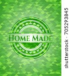 home made realistic green... | Shutterstock .eps vector #705293845