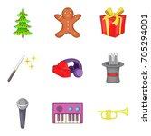 pleasure icons set. cartoon set ... | Shutterstock .eps vector #705294001