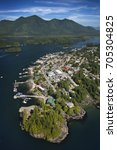 Small photo of Aerial of Tofino, Vancouver Island, British Columbia, Canada