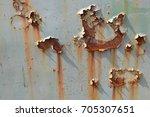 rusty metal texture background  | Shutterstock . vector #705307651