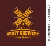 craft brewery vintage retro...   Shutterstock . vector #705308674