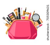 cosmetics for skincare and... | Shutterstock .eps vector #705309631