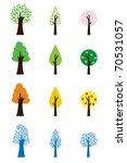 tree symbols in four seasons | Shutterstock .eps vector #70531057