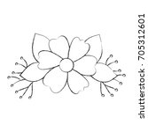 garden flowers decorative icon | Shutterstock .eps vector #705312601